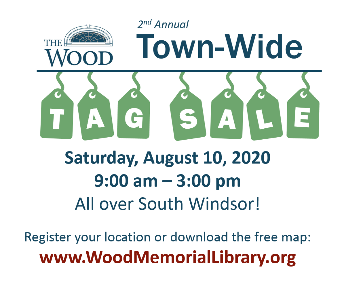 Town-Wide Tag Sale – Friends of Wood Memorial Library & Museum